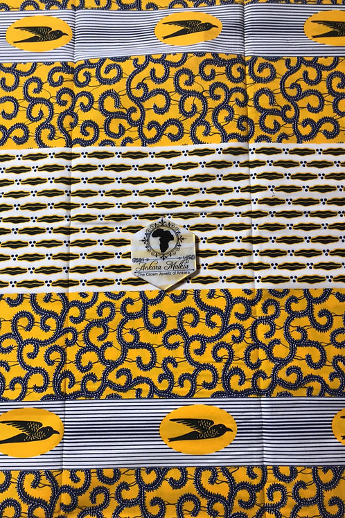"Yellow ""Sparrow & Macaroni""  Patchwork 005"