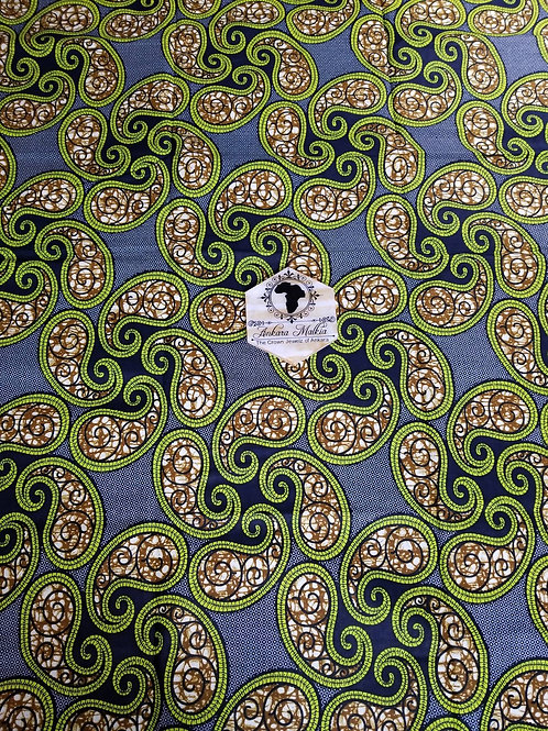 Paisley Pinwheels Green Abstract 0026