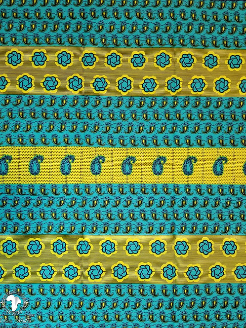 Blue & Yellow Paisley Patchwork 016