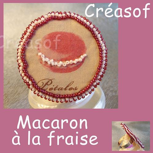 Bague Macaron à la Fraise