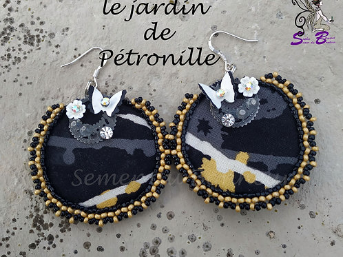 """Boucles d'oreille""""Le jardin de Pétronille"""""""