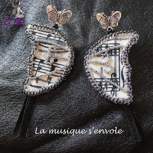 Boucles d'Oreille La Musique s'Envole