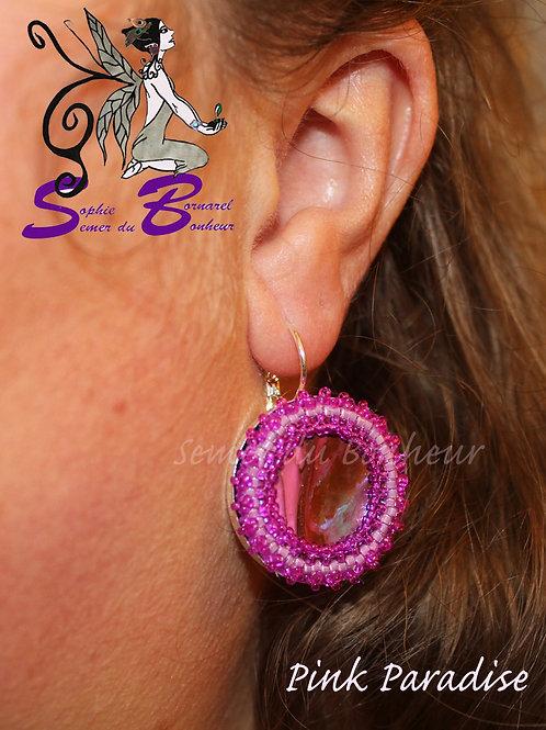 Boucles d'Oreille Pink Paradise