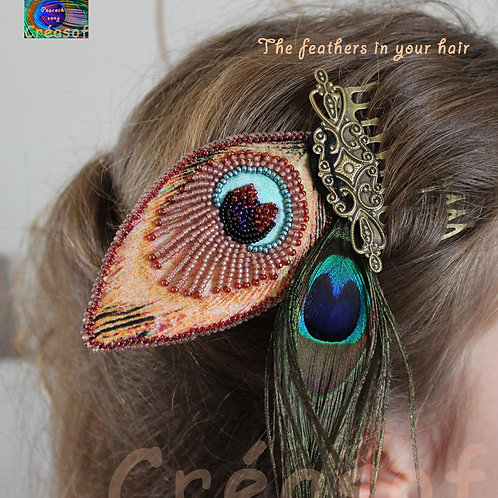 Bijou de cheveux The Feathers In Your Hair