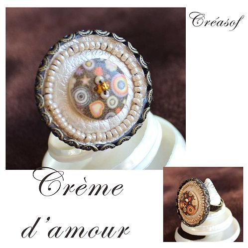 """Bague """"Crème d'amour"""""""