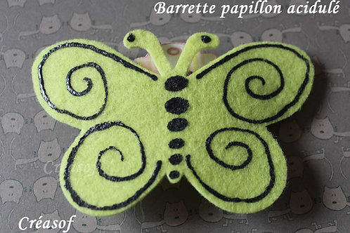 Barrette Papillon Acidulé