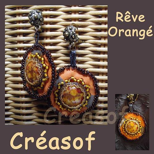 Boucles d'Oreille Rêve Orangé