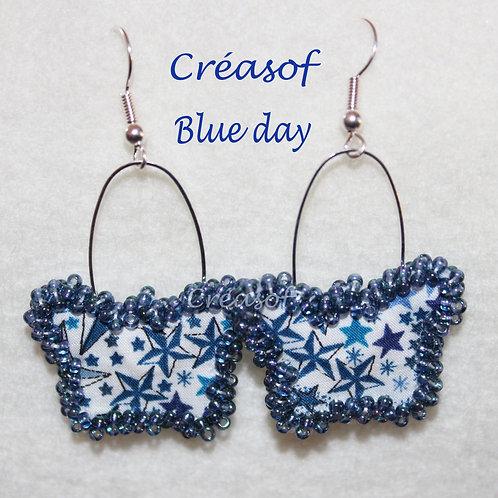 Boucles d'Oreille Blue Day