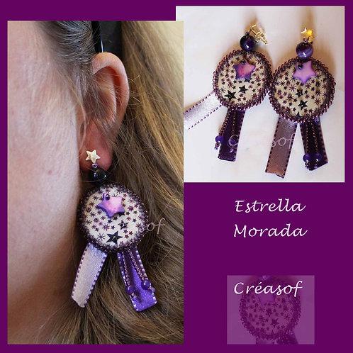 Boucles d'Oreille Estrella Morada