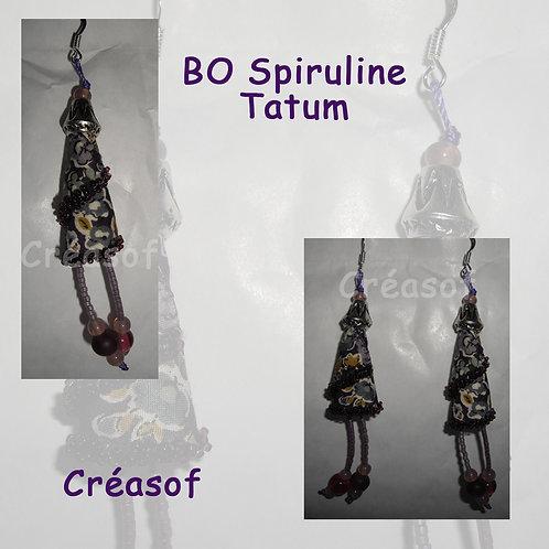 "Boucles d'oreille ""Spiruline Tatum"""