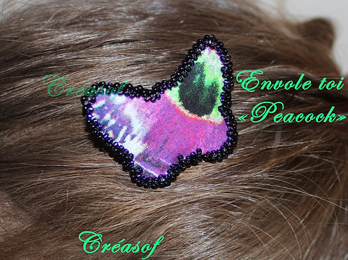 """Petit peigne """"Envole toi, style peacock"""