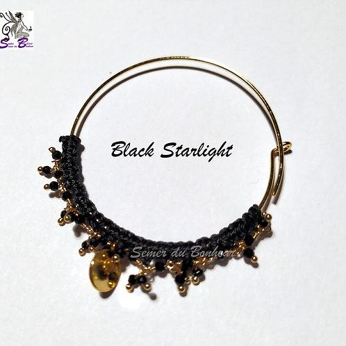 Boucles d'oreille Black Starlight