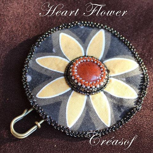 Broche Heart Flower