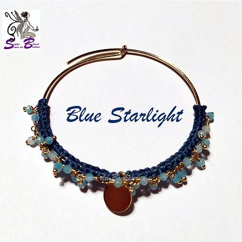 Copie de Boucles d'oreille Blue Starlight