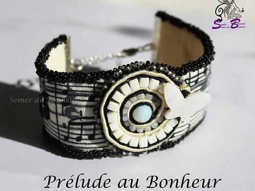 """Bracelet manchette """"Prélude au Bonheur"""""""