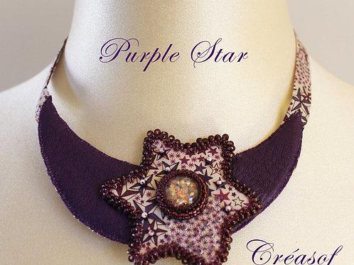 Plastron Purple Star