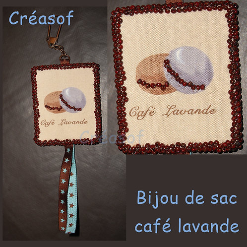 Bijou de sac Café Lavande