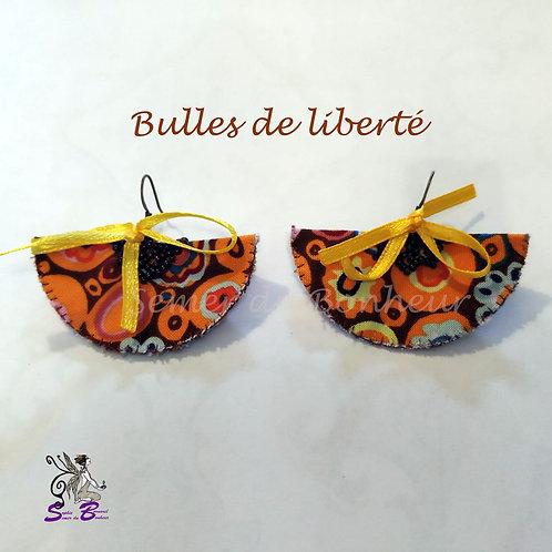 """Boucles d'oreille """"Bulles de liberté"""""""