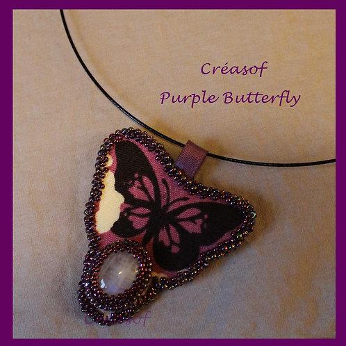"""Collier """"Purple Butterfly"""""""