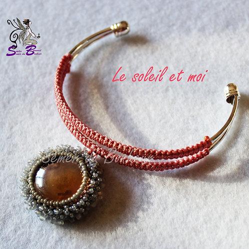 """Jonc argenté """"Le Soleil et Moi"""""""
