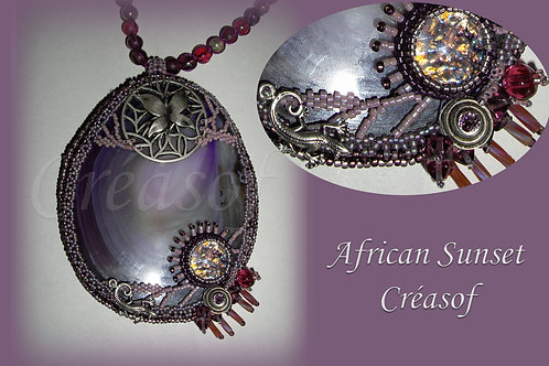 "Sautoir ""African sunset"""
