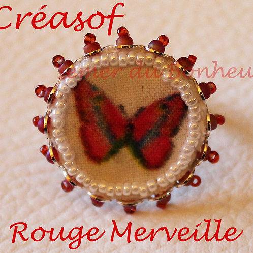"Bague ""Rouge Merveille"""