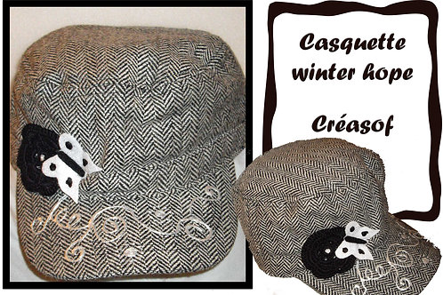 "Casquette ""Winter hope"""
