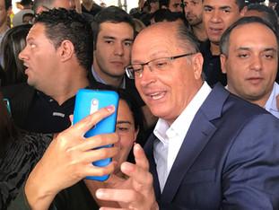"""Governador Geraldo Alckmin fez agenda de """"candidato"""" em São Bernardo"""