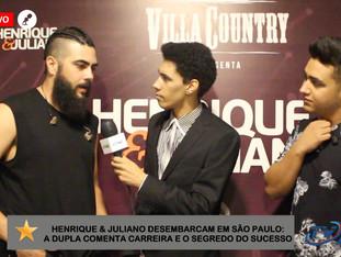 #ENTREVISTA - Henrique & Juliano comentam sobre atual momento na carreira