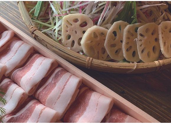 【たゆたゆ商店】鹿児島さつま茶美豚の豚しゃぶセット3~4人前