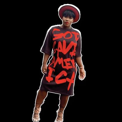 God Save America Midi-Dress