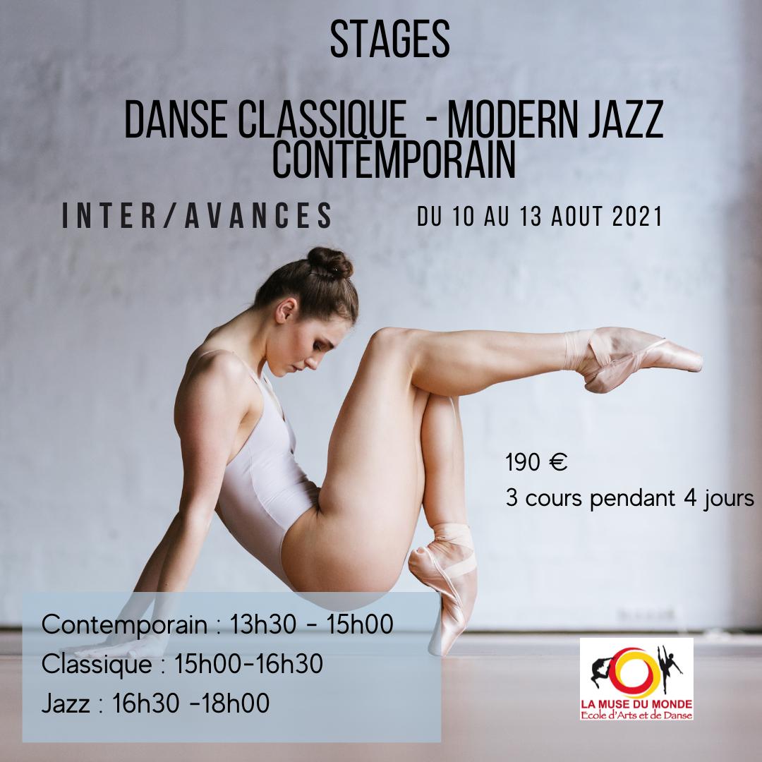 Stage de classique, modern jazz, contem