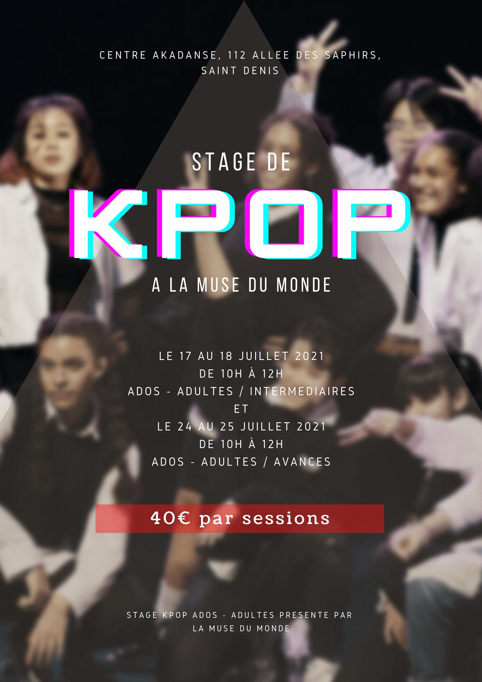 Stage kpop (Avancés)