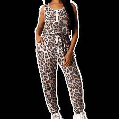 Leopard Printed Sleeveless Jumper