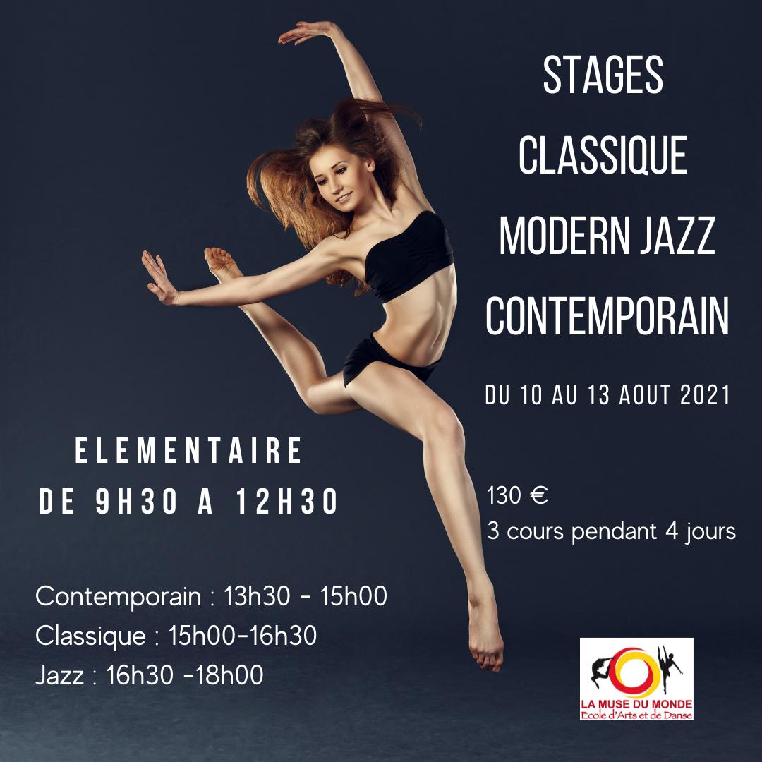 Stage Classique, modern jazz, contem.