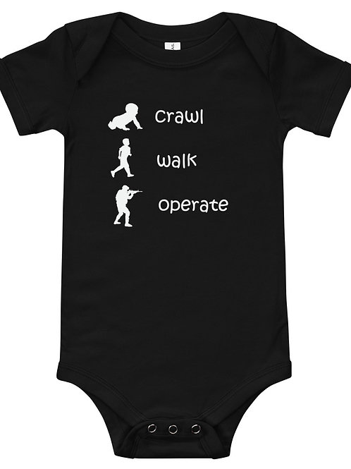 Crawl, Walk, Operate Onesie