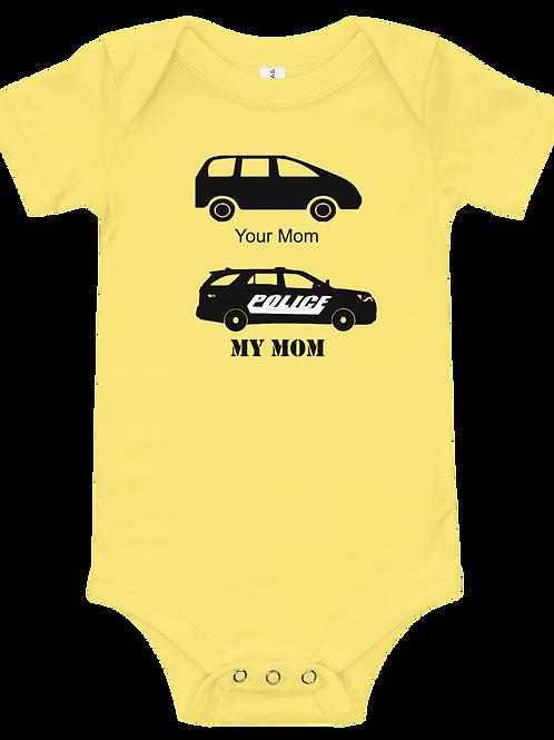 Squad Car Your Mom My Mom Onesie