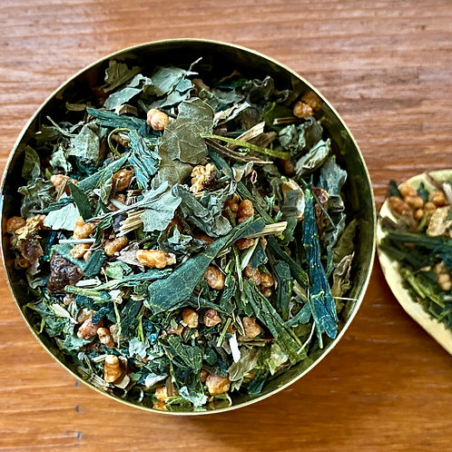 金風玄米茶・きんぷう Leaf Tea 30g