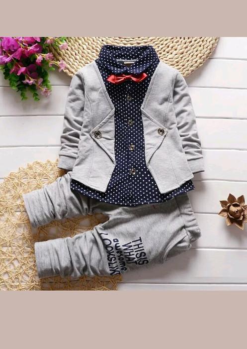 94023d449fff 2Pcs Toddler Baby Boys Kids Shirt Tops Long Pants Clothes Outfits Gentlemen  Set