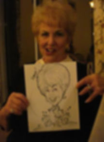 drawing from a 65th birthday party palm desert California