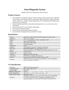 Aston Auto Diagnostic System