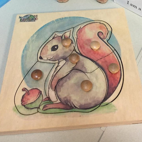 Squirrel Puzzle (6 pieces)