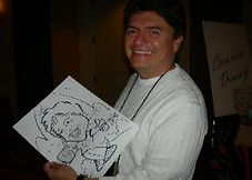 sketch of a man at a corporate event in Palm Desert, California