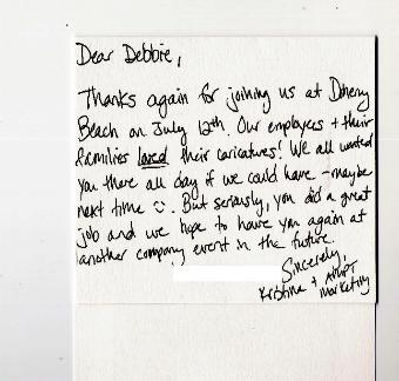 client thank you note