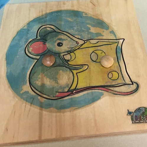 Mouse Puzzle (4 pieces) Woodland collection