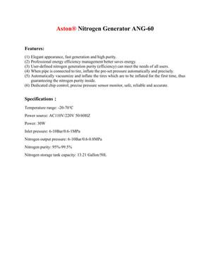 Nitrogen Generator for Car ANG-60