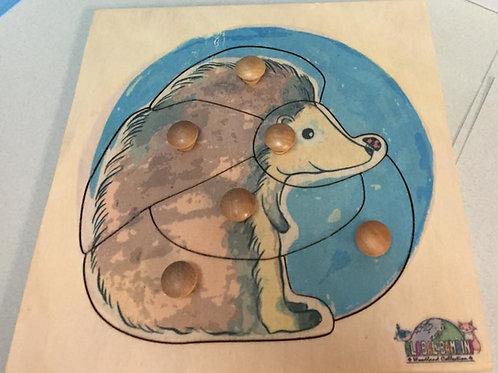 Hedgehog Puzzle (6 pieces)
