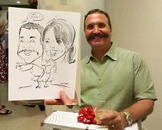 Corporate event couples drawing, Torrance California
