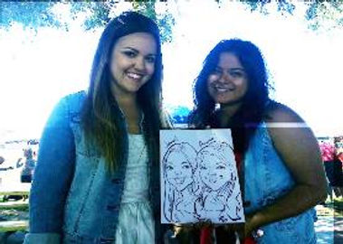 caricature of employeesVans company picnic Santa Monica