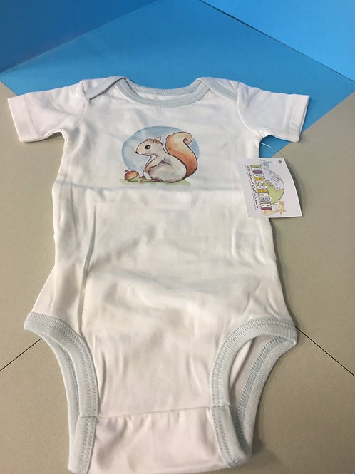 Squirrel Unisex Onesie with Diaper Flap